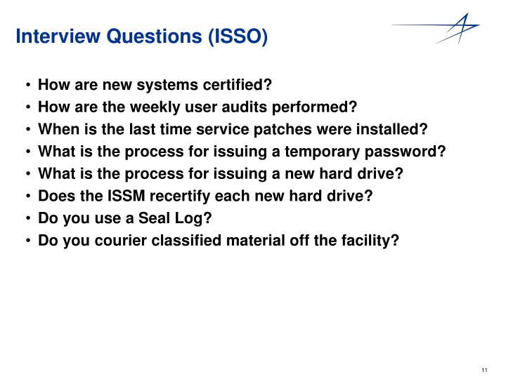 Interview Questions (ISSO)