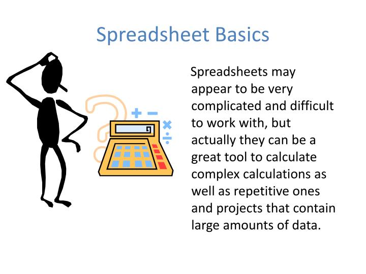 Spreadsheet basics