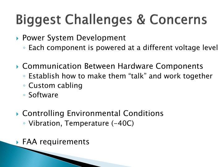 Biggest Challenges & Concerns