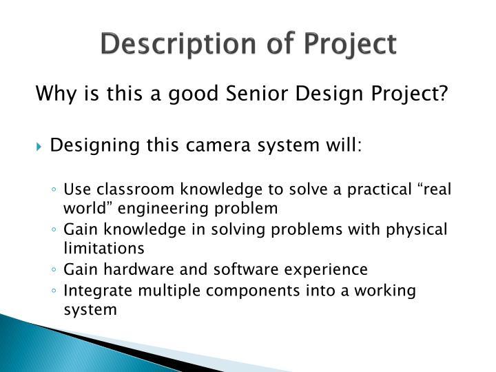 Description of Project