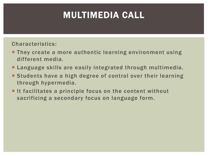 Multimedia CALL