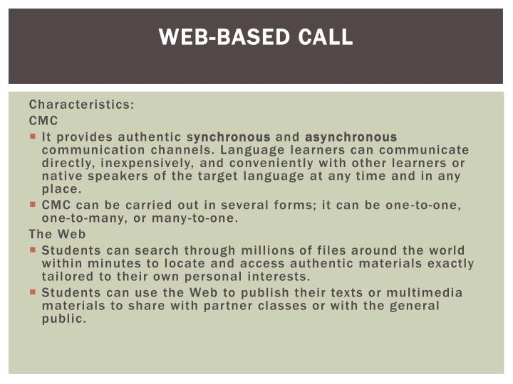 Web-based CALL