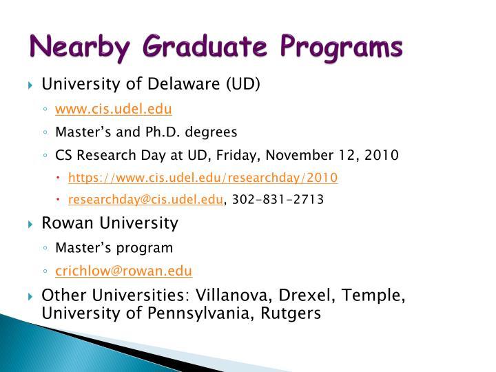 Nearby Graduate Programs