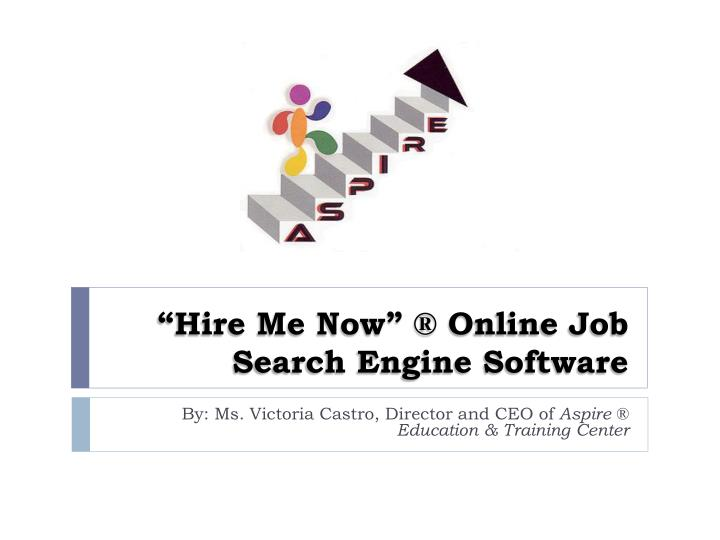 Hire me now o nline job s earch engine software