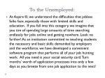 to the unemployed