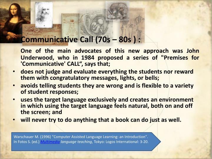 Communicative Call (