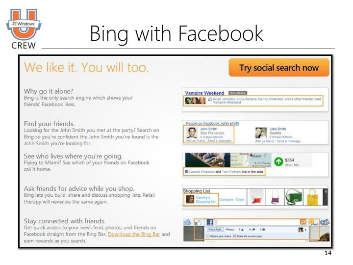 Bing with Facebook