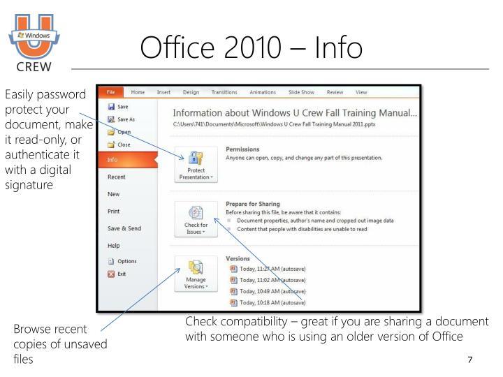Office 2010 – Info