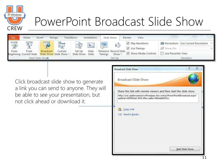 PowerPoint Broadcast Slide Show
