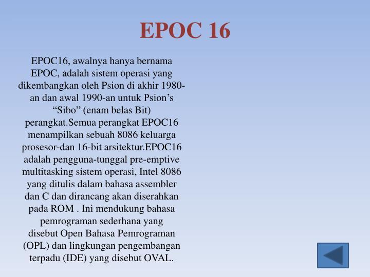 EPOC 16