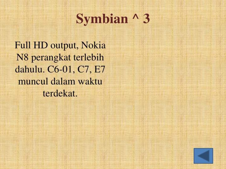 Symbian ^ 3
