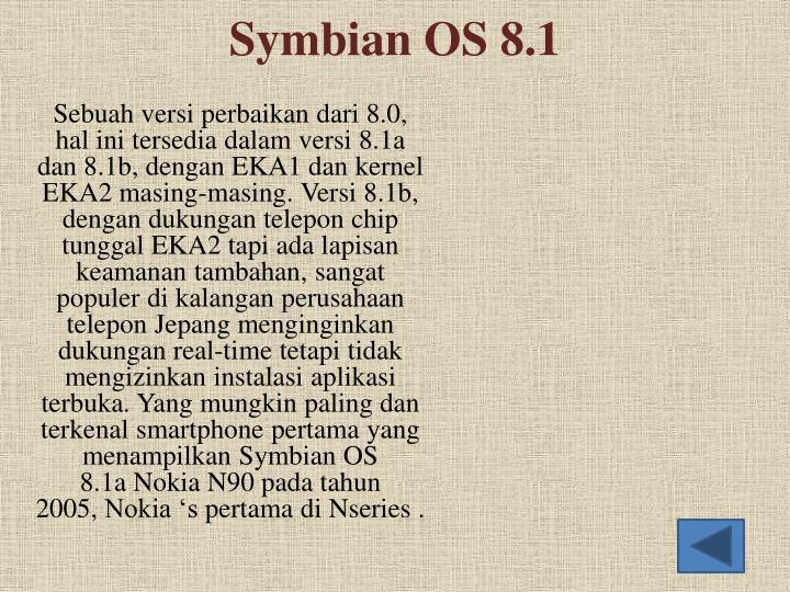 Symbian OS 8.1