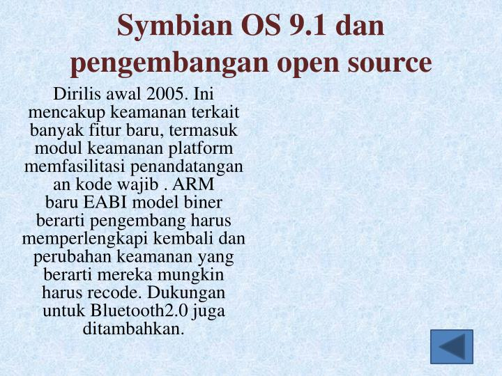 Symbian OS 9.1