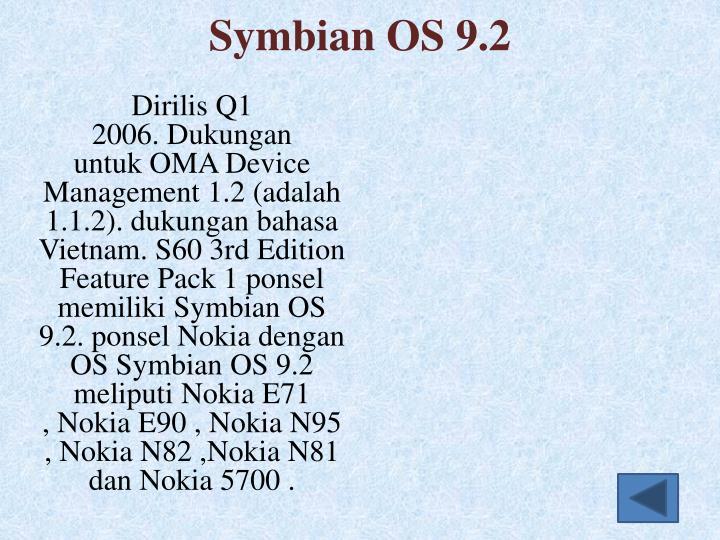 Symbian OS 9.2