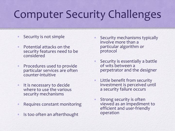 Computer Security Challenges