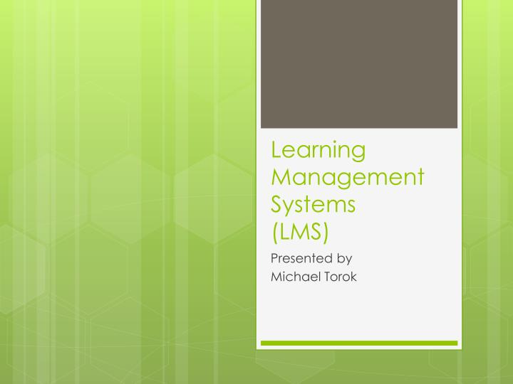 Learning management systems lms