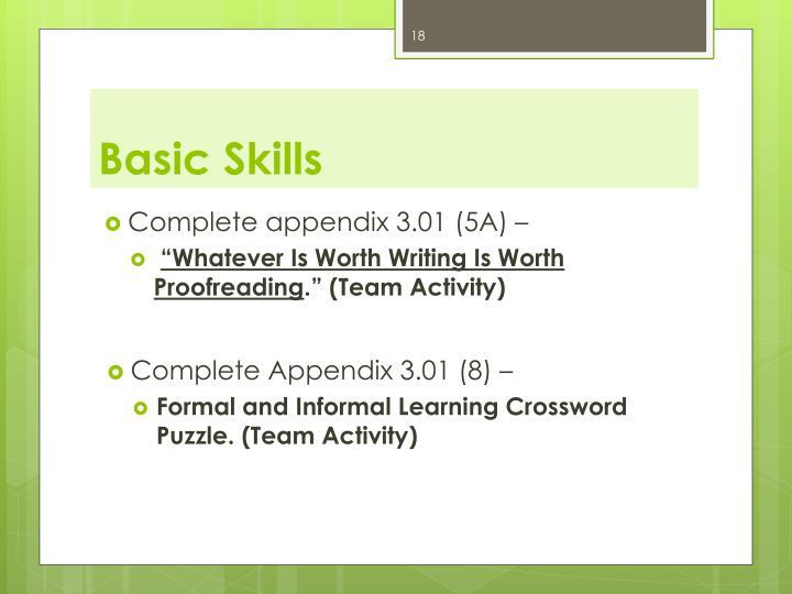 Basic Skills