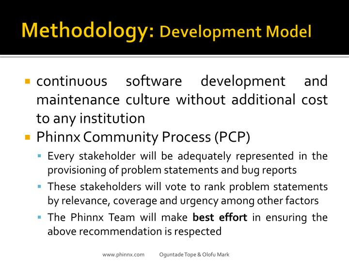 Methodology: