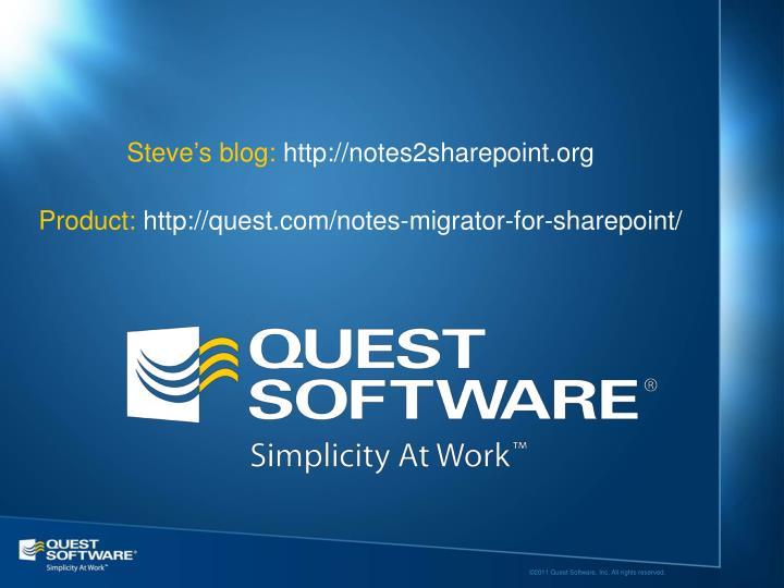 Steve's blog: