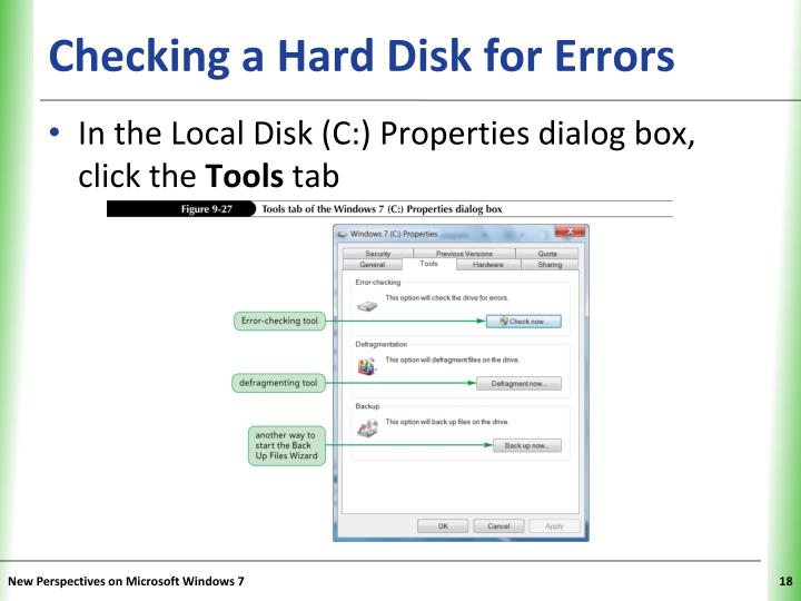 Checking a Hard Disk for Errors