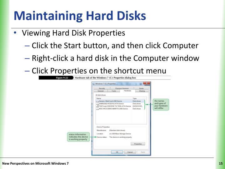 Maintaining Hard Disks
