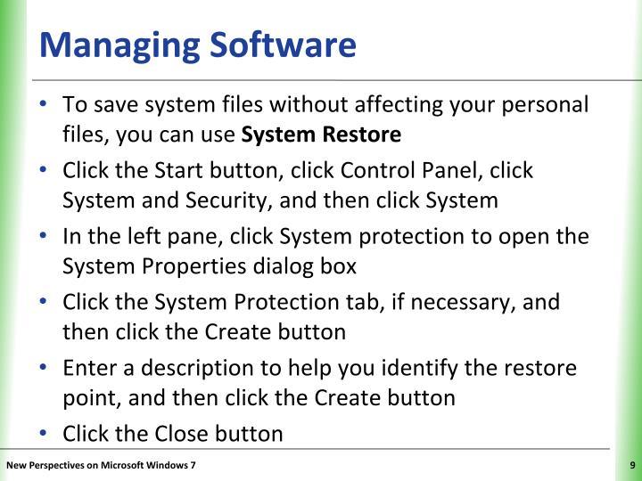 Managing Software