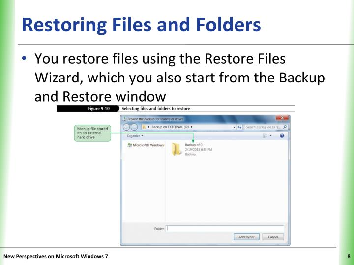 Restoring Files and Folders