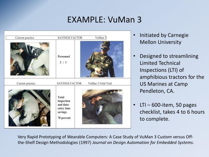 EXAMPLE: VuMan 3