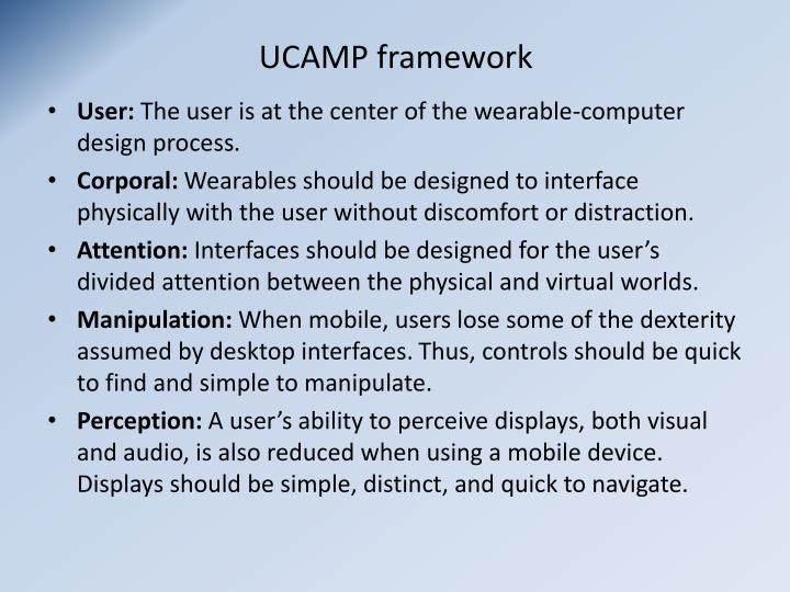 UCAMP framework