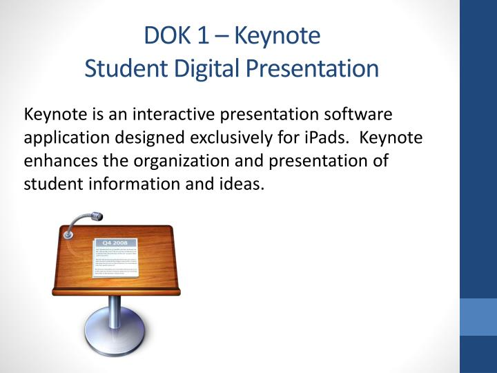 DOK 1 – Keynote