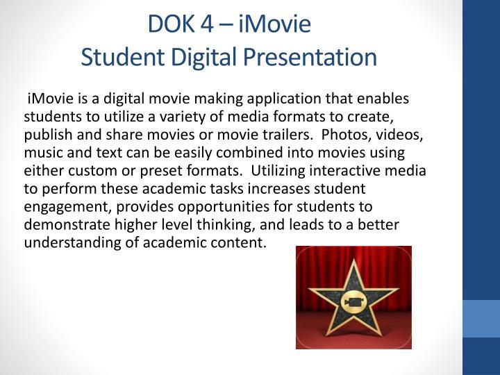 DOK 4 – iMovie