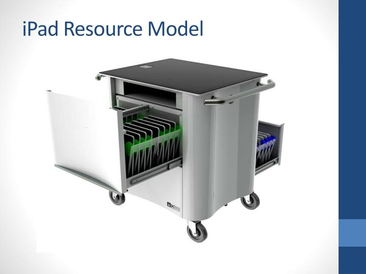 iPad Resource Model
