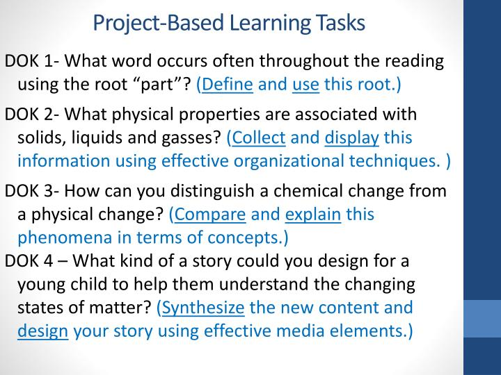Project-Based Learning Tasks