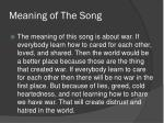 meaning of the song