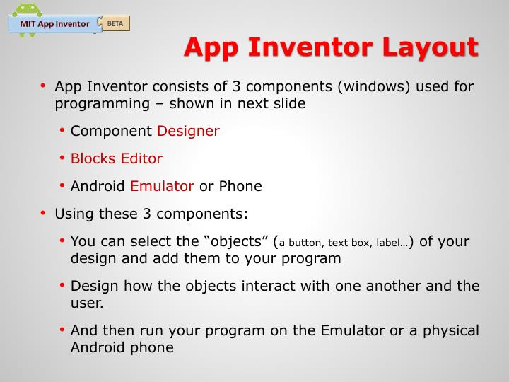App Inventor Layout