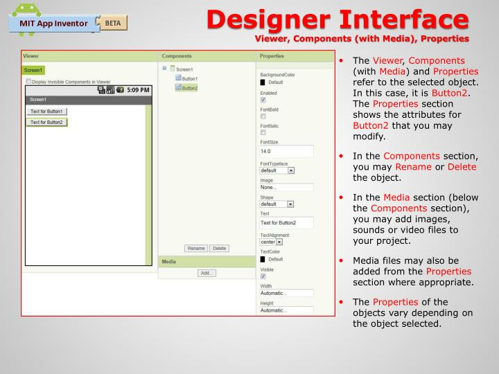 Designer Interface