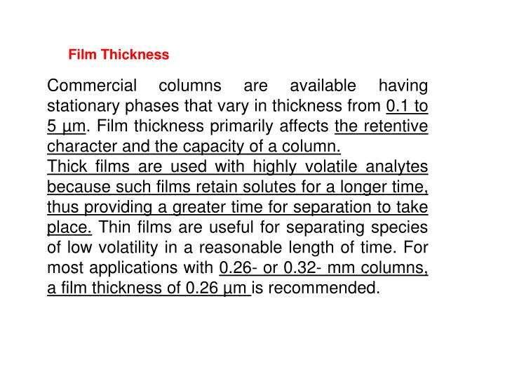 Film Thickness