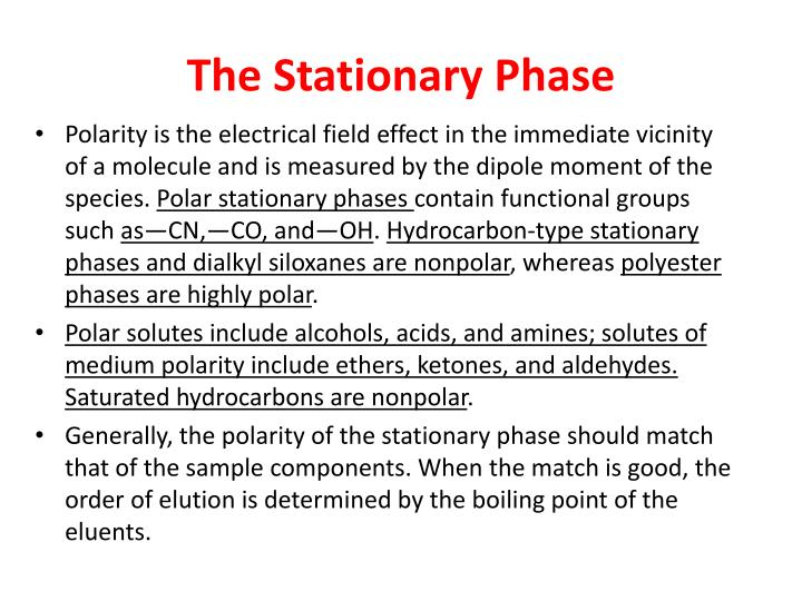 The Stationary Phase