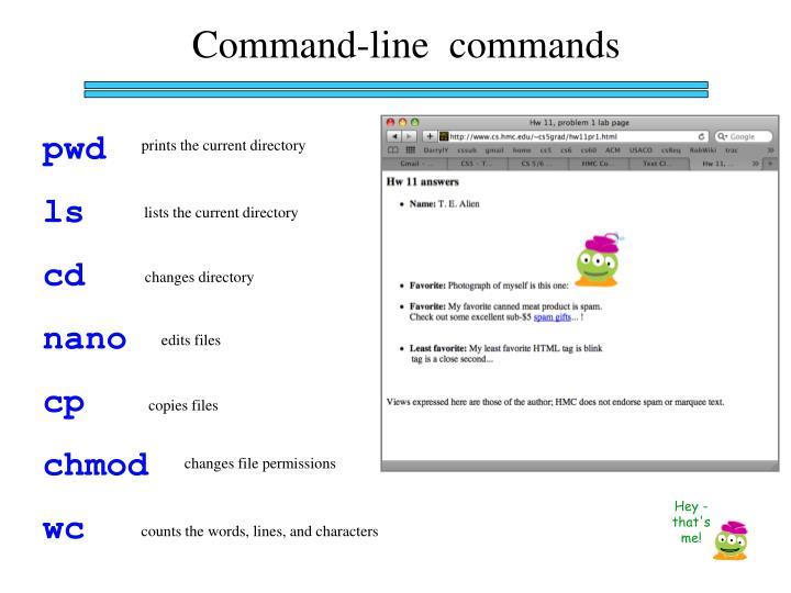 Command-line  commands