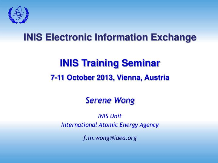 Inis electronic information exchange