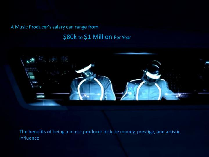 A Music Producer's salary can range from