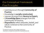 our conceptual framework five principles