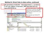 method a direct links to data online continued1