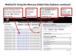 method b using the mercury orbital data explorer continued2