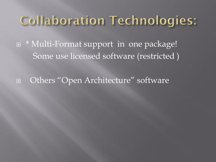 Collaboration Technologies: