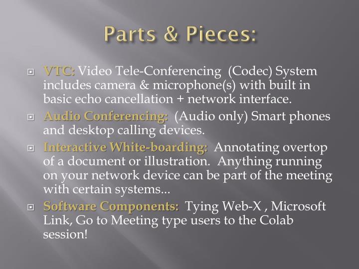 Parts & Pieces: