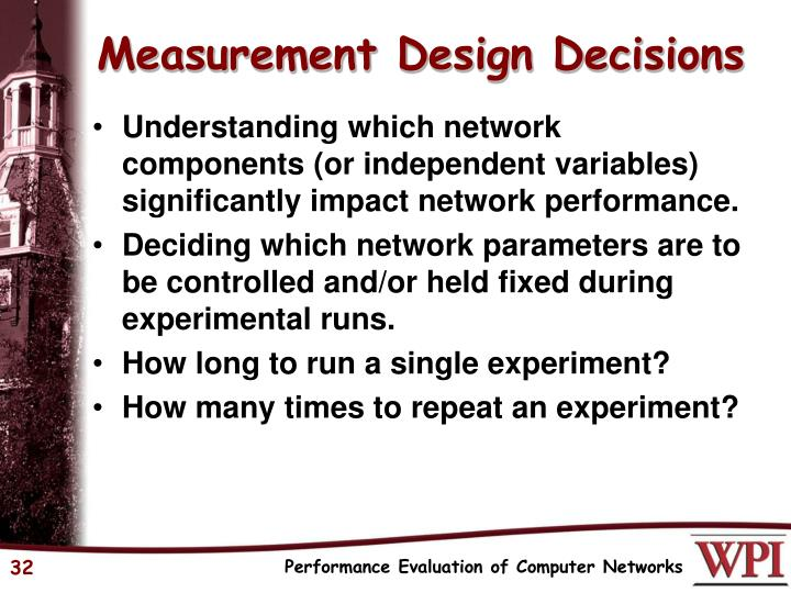 Measurement Design Decisions