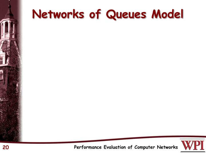 Networks of Queues Model