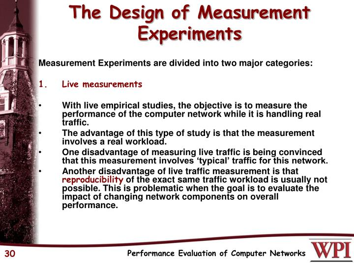 The Design of Measurement Experiments