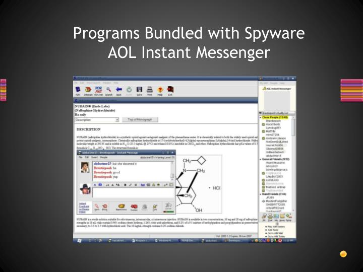 Programs Bundled with Spyware